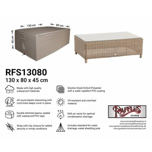Raffles Covers Rectangular ottoman cover, 130 x 80 H: 45 cm
