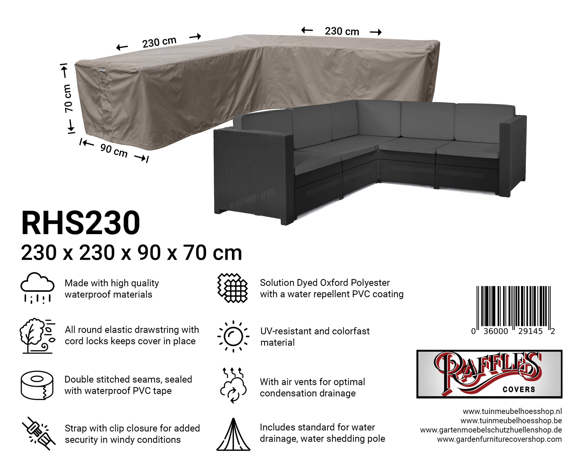 Marvelous Rattan Corner Sofa Cover 230 X 100 Cm Interior Design Ideas Gresisoteloinfo