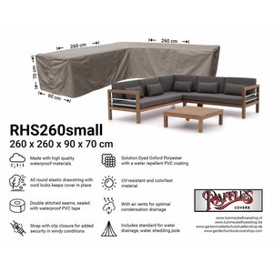 Raffles Covers Cover for L-shaped sofa, 260 x 260 x 90, H: 70 cm