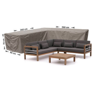 Raffles Covers Cover for L-shaped sofa 260 x 260 x 90, H: 70 cm