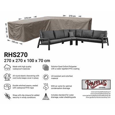 Raffles Covers Rattan corner sofa cover 270 x 270 x 100, H: 70 cm
