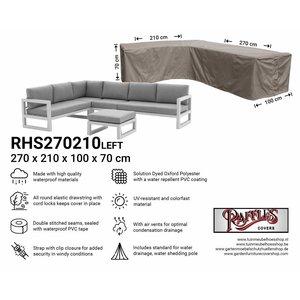 Raffles Covers Outdoor corner sofa cover, 270 x 210 x 100, H: 70 cm