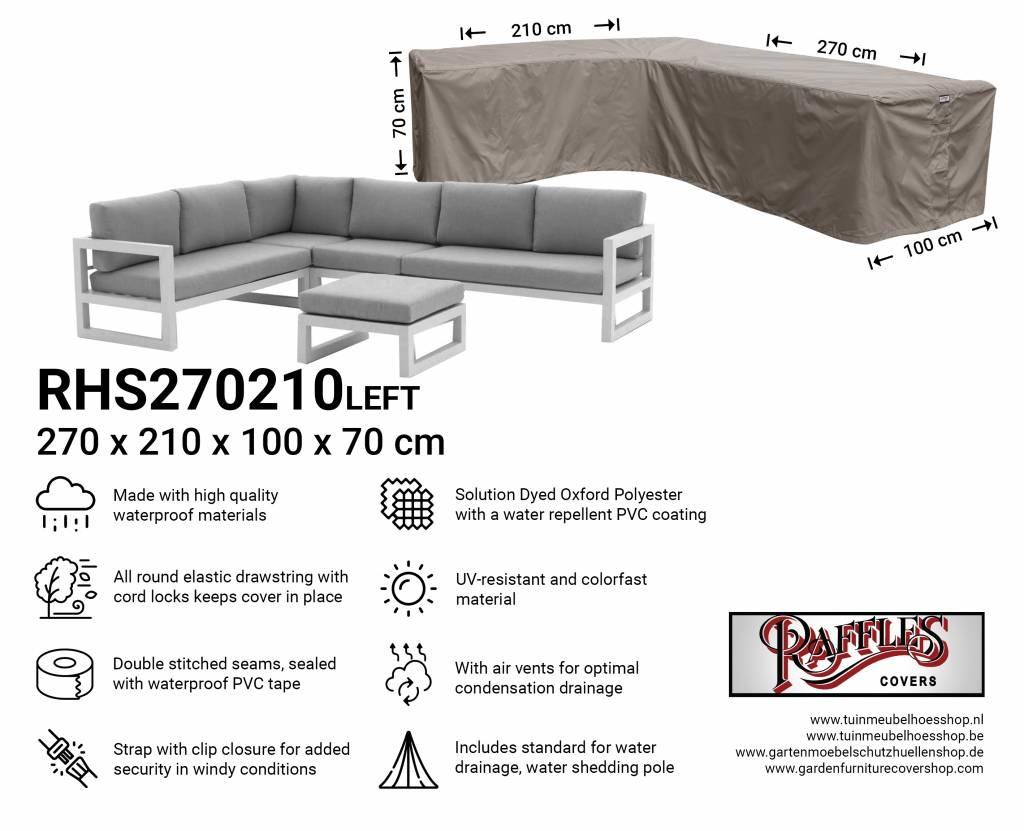 Outdoor corner sofa cover 270 x 210