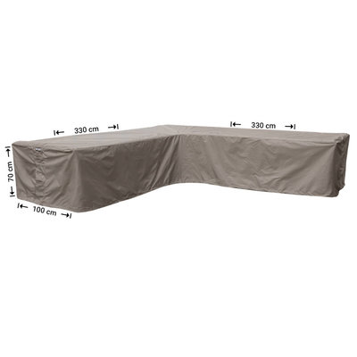 Raffles Covers Protection cover for corner sofa 330 x 330 x 100, H: 70 cm