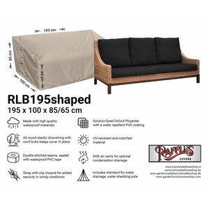 Raffles Covers Cover for lounge sofa garden, 195 x 100 H: 85 / 65 cm