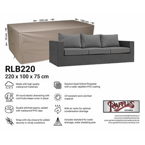 Raffles Covers Lounge bench cover, 220 x 100 H: 75 cm