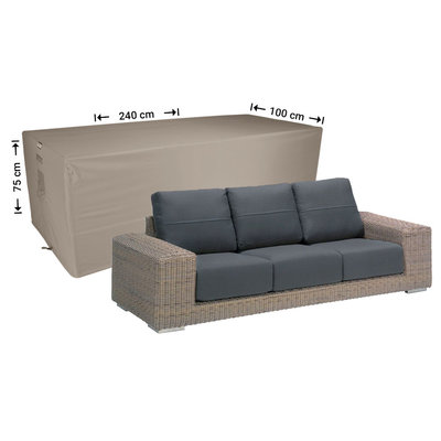 Raffles Covers Weather cover for lounge sofa 240 x 100 H: 75 cm