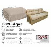 Raffles Covers Garden sofa cover shaped 250 x 100 H: 85 / 65 cm