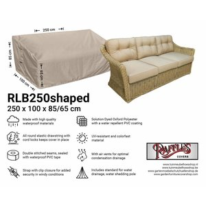 Raffles Covers Garden sofa cover shaped, 250 x 100 H: 85 / 65 cm