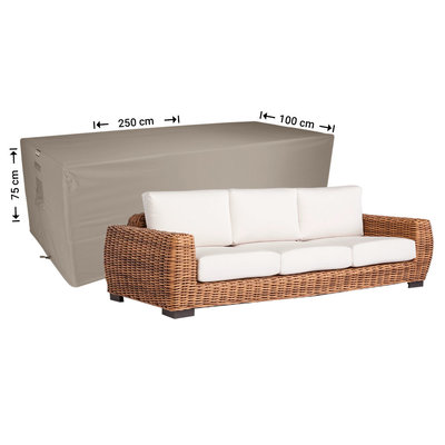 Raffles Covers Outdoor lounge sofa cover 250 x 100 H: 75 cm