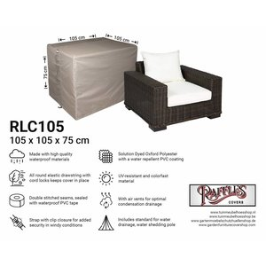 Raffles Covers Protection cover for lounge chair, 105 x 105 H: 75 cm