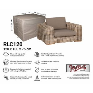 Raffles Covers Weather cover for rattan chair, 120 x 100 H: 75 cm