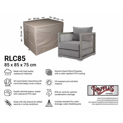 Raffles Covers Outdoor lounge seat  cover 85 x 85 H: 75 cm