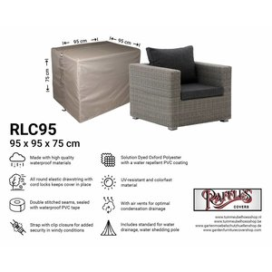 Raffles Covers Lounge chair cover, 95 x 95 H: 75 cm