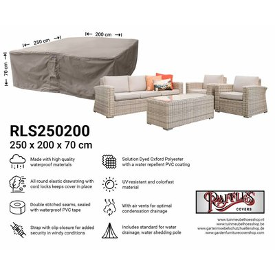 Raffles Covers Lounge set cover for rattan furniture 250 x 200 H: 70 cm