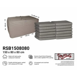 Raffles Covers Patio furniture cushion storage bag, 150 x 80 H: 80 cm