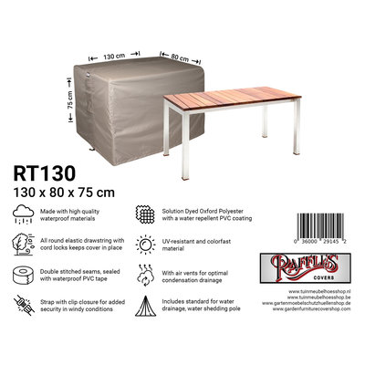 Raffles Covers Cover for outdoor table 130 x 80 H: 75 cm