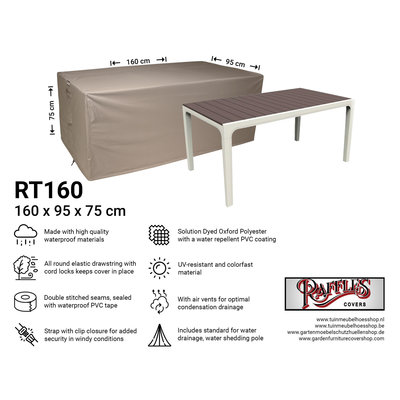Raffles Covers Outdoor table cover 160 x 95 H: 75 cm