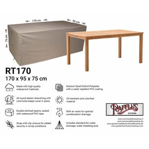 Raffles Covers Weather cover for table, 170 x 95 H: 75 cm