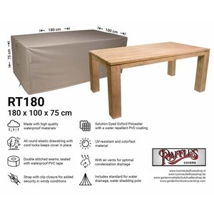 Raffles Covers Rectangular garden table cover, 180 x 100 H: 75 cm
