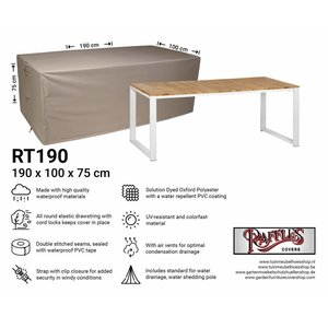 Raffles Covers Garden table cover, 190 x 100 H: 75 cm