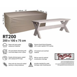 Raffles Covers Protection cover for table, 200 x 100 H: 75 cm
