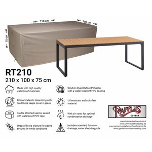 Raffles Covers Protective cover for a garden table, 210 x 100 H: 75 cm