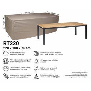 Raffles Covers Rectangular garden table cover, 220 x 100 H: 75 cm