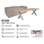 Raffles Covers Protection cover table 250 x 100 H: 75 cm