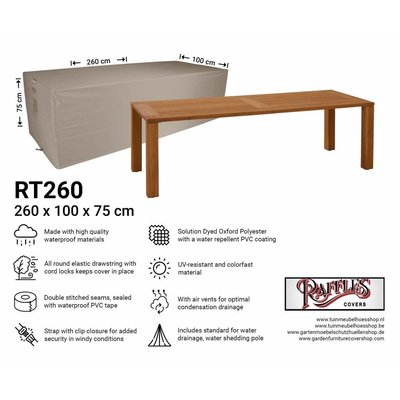 Raffles Covers Garden table protection cover 260 x 100 H: 75 cm