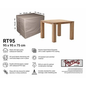 Raffles Covers Outdoor cover for table, 95 x 95 H: 75 cm