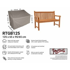 Raffles Covers Garden bench cover, 125 x 65 H:95/65cm