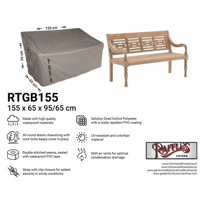 Raffles Covers Cover for garden bench 155 x 65 H:95/65cm