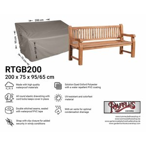Raffles Covers Cover for large garden bench, 200 x 75 H: 95/65 cm