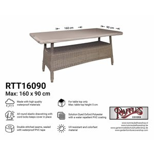 Raffles Covers Table top cover rectangular, 160 x 90 cm