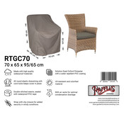 Raffles Covers Weather cover for garden chair 70 x 65 H:95/65cm