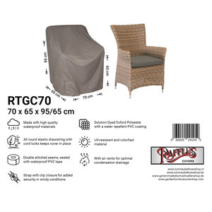 Raffles Covers Cover for hardwood garden chair, 70 x 65 H:95/65cm
