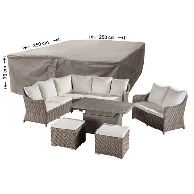 Raffles Covers XL cover for garden furniture lounge set 350 x 250 H: 70 cm