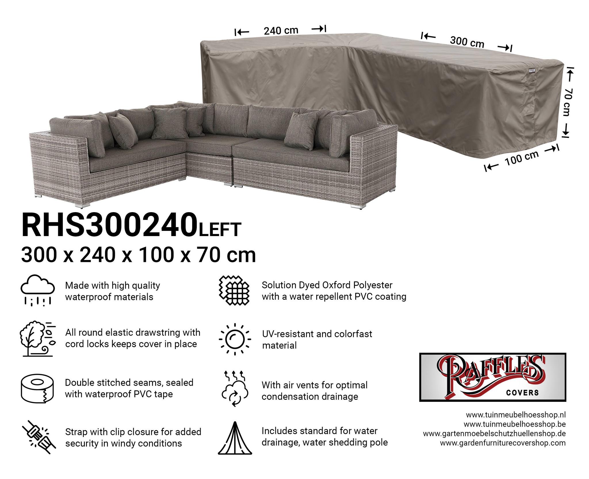 Cover for L-shaped corner sofa 300 x 240 cm