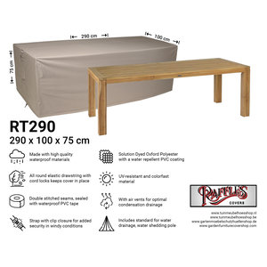 Raffles Covers Garden table cover, 290 x 100 H: 75 cm