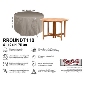 Raffles Covers Cover for round furniture set,  Ø 110 cm & H: 75 cm