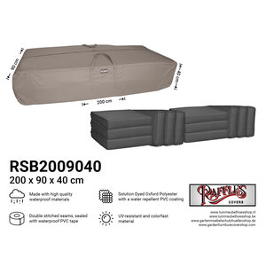 Raffles Covers Outdoor cushions storage bag, 200 x 90 H: 40 cm