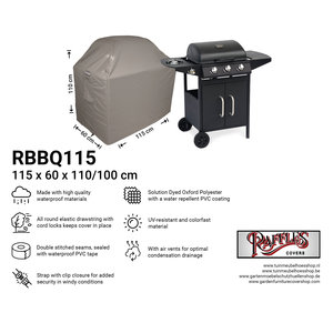 Raffles Covers Breathable BBQ cover 115 x 60 H: 110 / 100 cm