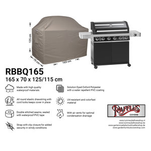 Raffles Covers Cover for outdoor kitchen, 165 x 70 H: 125 / 115 cm