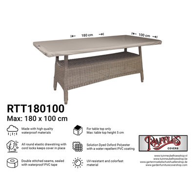 Raffles Covers Protection cover for table top 180 x 100 cm