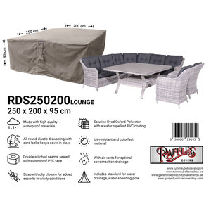 Raffles Covers Lounge set furniture cover, 250 x 200 H: 95 cm