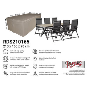 Raffles Covers Cover for garden furniture set, 210 x 165 H: 90 cm