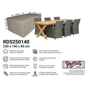 Raffles Covers Cover for garden furniture, 250 x 140 H: 85 cm