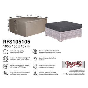Raffles Covers Hocker cover, 105 x 105 H: 45 cm
