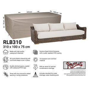 Raffles Covers Outdoor sofa cover, 310 x 100 H: 75 cm